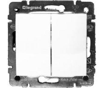 Valena Переключатель 2кл 10А (сх6+6) бел.