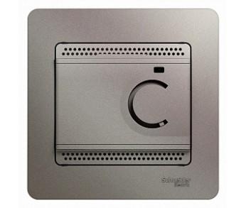 GLOSSA Термостат электронный с датчиком в сборе 10A платина (упак. 2шт.)
