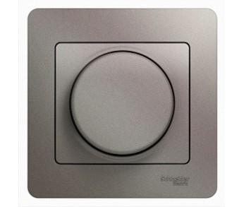 GLOSSA Термостат электронный с датчиком в сборе 10A  платина поворотный (упак. 2шт.)