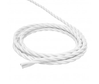 Werkel Витой ретро кабель для внешней проводки 2х0,75 белый