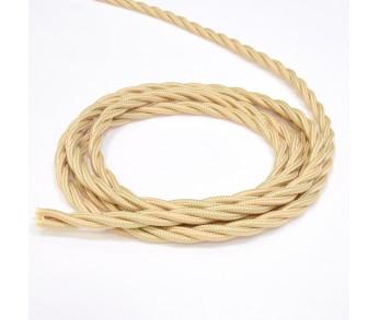 Werkel Витой ретро кабель для внешней проводки 2х0,75 песочное золото