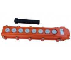Пост кнопочный ПКТ-80 8 кнопок ABS-пластик IP54 оранж. Электротехник