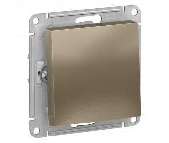 ATLASDESIGN Выключатель кнопочный 1кл. с самовозвратом (сх.1) 10AX шампань (5шт/упак)