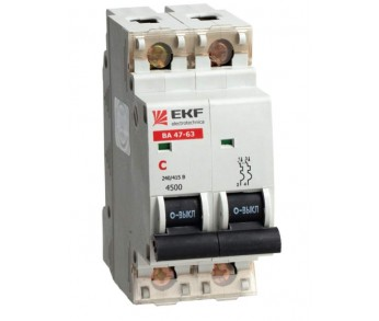 Авт. выкл. EKF ВА47-63 2Р 25А C 4,5 кА (под опломбировку)