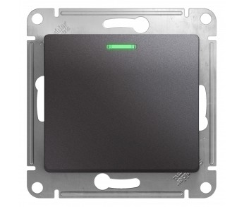 GLOSSA Переключатель 1кл. с подсв. сх.6 графит (упак. 20шт)