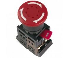 Кнопка красная гриб AE-22 с фиксацией 1з+1р 240В IEK