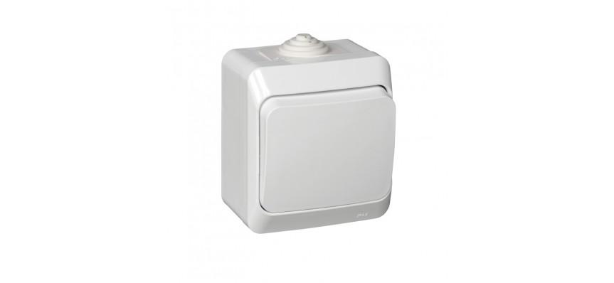 ЭТЮД Выключатель 1-кл О/У IP44 белый