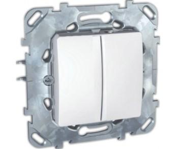 UNICA Выключатель 2-кл. бел.