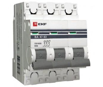 Авт. выкл. ВА47-63 3Р 40А 4,5кА PROxima EKF (под опломбировку)