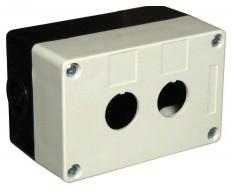 Корпус КП102 для кнопок 2 места белый  IP54 IEK
