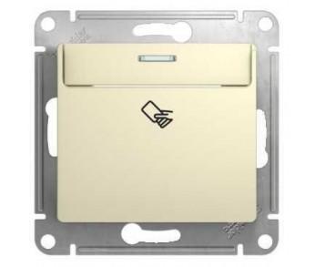 GLOSSA Выключатель 1кл. карточный беж. сх.6 20 штук
