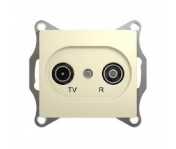 GLOSSA Розетка TV+R проходная 4dB беж. (упак.10шт)