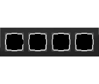 Werkel Рамка на 4 поста черный Aluminium