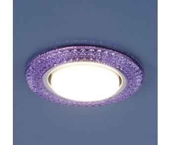 Светильник точечный GX53 3030 VL фиолетовый LED подсветка Elektrostandard