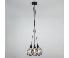 Светильник подвесной в стиле Лофт 50059/3 чёрный Eurosvet