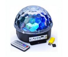 Светильник-проектор RGB/ MP3 проигр.и 2 колонки, USB и SD разъемы 220V