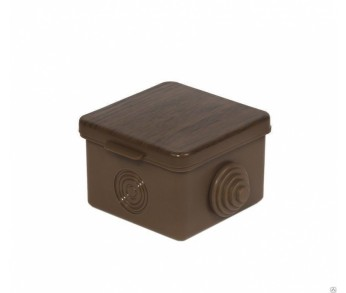 Коробка расп. ОП 83x83х55мм KMP-030-031 7 вводов IP54 тёмное дерево EKF