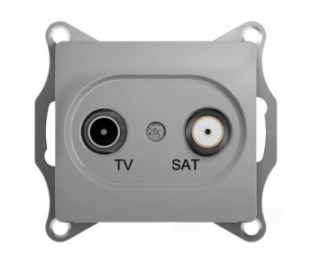 GLOSSA Розетка TV-SAT 1dB алюминий оконечная(упак. 10шт.)