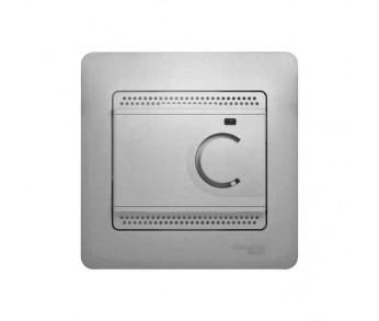 GLOSSA Термостат электронный с датчиком в сборе 10A алюминий (упак. 2шт.)