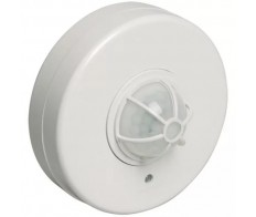 Датчик движения ИК потолочный 1100w 180-360 гр. 6м IP33 белый (ДД 024B бел.) ИЭК