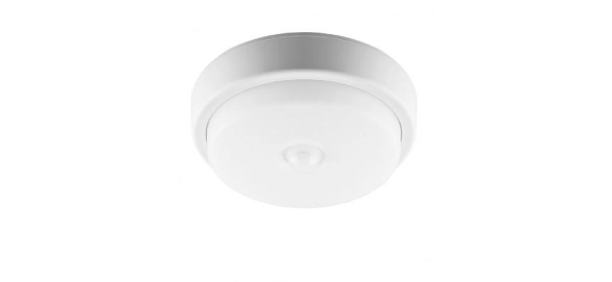 Светильник светодиодный ДБП-12w c ИК датчиком дв. 4000К 900Лм AL3006 круглый пласт. IP54 белый Feron