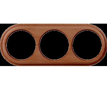 Werkel Рамка 3 поста итальянский орех Legend