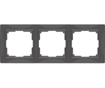 Werkel Рамка на 3 поста cеро–коричневый Snabb Basic