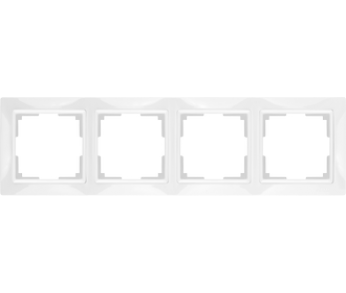 Werkel Рамка на 4 поста белый Snabb Basic