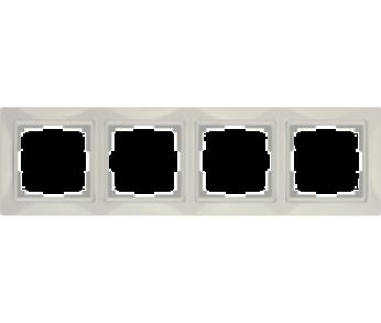 Werkel Рамка на 4 поста cлоновая кость Snabb Basic