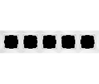 Werkel Рамка на 5 поста белый Snabb Basic