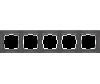 Werkel Рамка на 5 поста cеро–коричневый Snabb Basic
