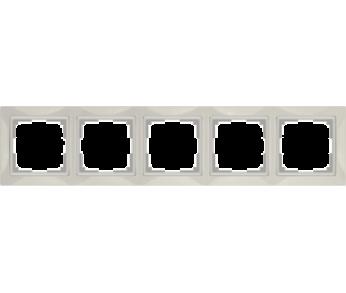 Werkel Рамка на 5 поста cлоновая кость Snabb Basic
