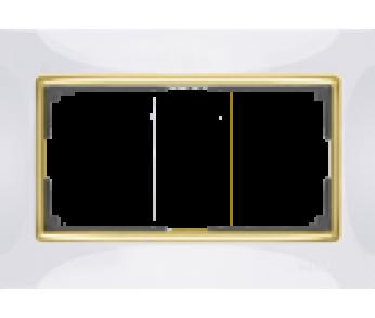 Werkel Рамка для двойной розетки белый/золото Snabb