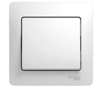 GLOSSA Выключатель 1кл. в сборе (сх.1) бел. (упак. 15шт.)