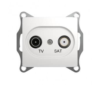 GLOSSA Розетка TV-SAT 1dB бел.оконечная (упак. 10шт.)