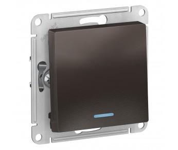 ATLASDESIGN Выключатель 1кл. с подсв. (сх.1а) 10AX мокко (20шт/упак)
