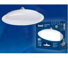 Лампа светодиодная 60W Е-27 6500К 220V форма UFO Uniel