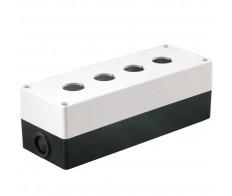 Корпус КП104 для кнопок 4 места белый IEK