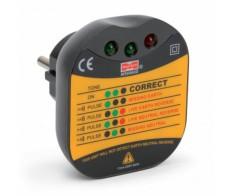 Тестер электросети для евро-розеток цифровой Mastech