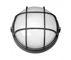 Светильник 1102 черный круг с рещеткой 1*100Вт IP54