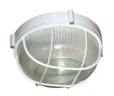 Светильник 1102 белый круг с рещеткой