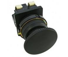 Кнопка КЕ-021 черная грибок исп.2 (1но+1нз)