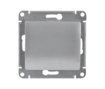 GLOSSA Выключатель 1кл. (сх.1) алюминий (упак. 20шт.)
