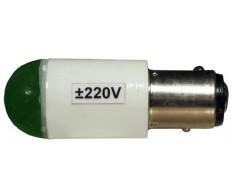 Сигнальная лампа СКЛ-4 цоколь В15 220V (зеленая)