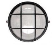 Светильник 1302 черный малый круг. c реш. 1*60Вт. Е-27 IP54