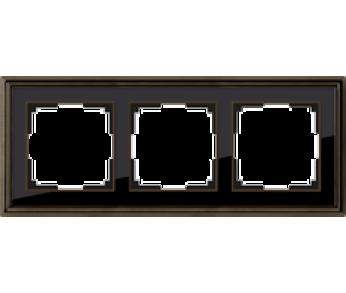Werkel Рамка на 3 поста бронза/чёрный Palacio