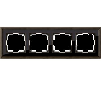 Werkel Рамка на 4 поста бронза/чёрный Palacio