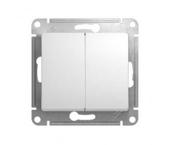 GLOSSA Выключатель 2кл. (сх.5) бел. (упак 20шт.)
