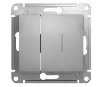 GLOSSA Выключатель 3кл. (сх.3) бел. (упак 20шт.)