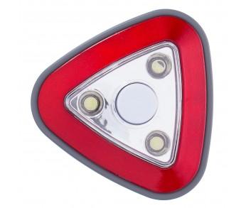 Светильник-ночник пушлайт красный, батарейки ААА Uniel